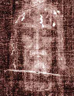 Secondo Pia's 1898 negative of the image on the Shroud of Turin has an appearance suggesting a positive image. It is used as part of the devotion to Holy Face of Jesus.