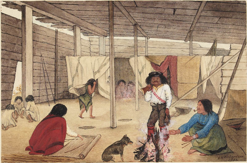 File:Interior of a Salish Longhouse, British Columbia, 1864.jpg