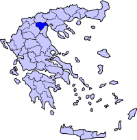 Location of İmatya Prefecture in Greece