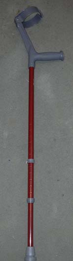 a length adjustable forearm crutch with handgrip and forearm support