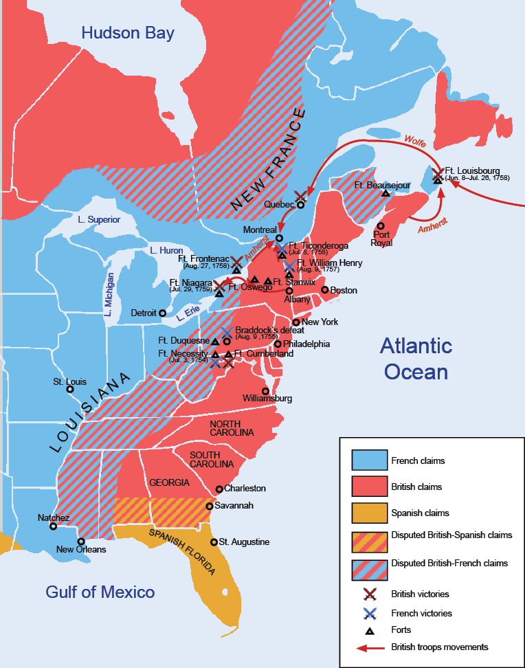 compare and contrast the british french and spanish imperial goal in north america between 1580 and  History of the portuguese empire including new european empires (as in spanish america) british and french rivals.