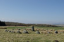Stone Circle south of Old Military Road - geograph.org.uk - 1290115.jpg