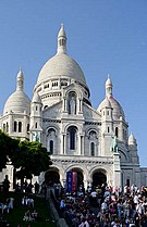 The Basilica of the Sacred Heart in Paris, France.
