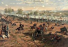 Painting of the Battle of Gettysburg
