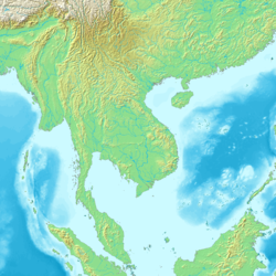 Topographical map of Mainland Southeast Asia