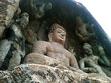 Rock-cut Lord Buddha statue at Bojjanakonda near Anakapalle India