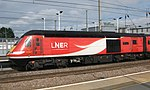 Peterborough - LNER 43367 rear of up train.JPG