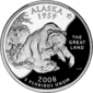 Alaska quarter dollar coin