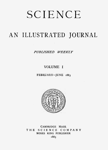 cover of the first volume of the resurrected journal (February–June 1883)
