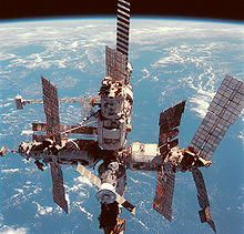 Space station with Earth as the background