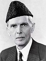 Muhammad Ali Jinnah (1876–1948) served as Pakistan's first Governor-General and the leader of the Pakistan Movement