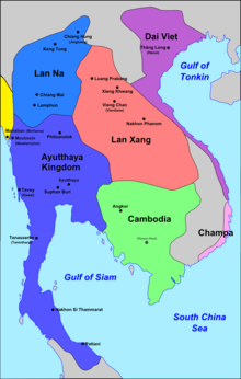 Southeast Asia around 1540