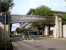 Babelsberg Studio near Berlin gate with pedestrian island