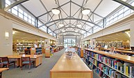 Interior view of the Santa Clara City Library