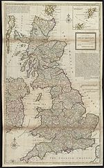 Map of Great Britain in 1720