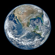 A view of the Earth from space.