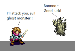 An example of a sprite comic.