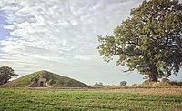 The modern Soulton Long Barrow