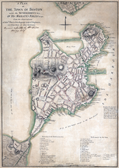 Map of Boston in 1775