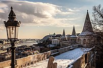 Views from Fisherman's Bastion toward south. - Budapest, Hungary. - 62 365² Observador (8262965486).jpg