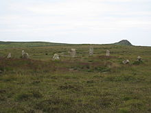 Nine Maidens stone circle at Boskednan - geograph.org.uk - 846607.jpg