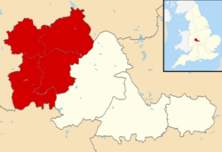 The metropolitan boroughs of Dudley, Sandwell and Walsall highlighted within the West Midlands metropolitan county