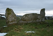 Whitebrow stone circle viewed from the sou'west - geograph.org.uk - 1709042.jpg