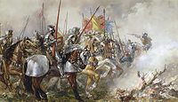 King Henry V at the Battle of Agincourt, 1415.