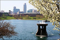 View of Downtown Omaha from Heartland of America Park