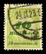 10 Milliarden Mark (1010 mark) stamp