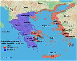 Political geography of ancient Greece in the Archaic and Classical periods.