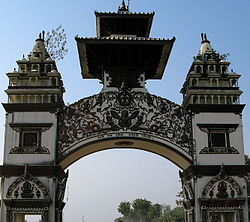 The gate in Birganj on the Indo-Nepal border