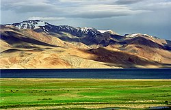Tso Moriri, an oligotrophic lake in Ladakh