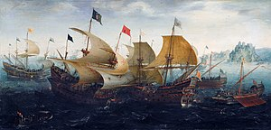 Aert Anthonisz. The battle of Cadix 1608.jpg