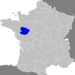 The Province of Anjou in 1789.