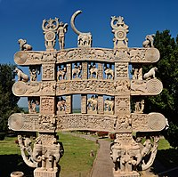 Satavahana gateway at Sanchi, 1st century CE