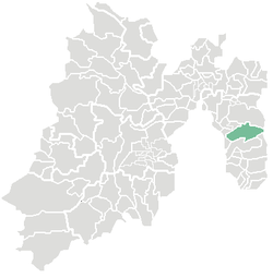 Location of Ixtapaluca in the State of Mexico