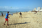 Matkot players on the beach in Tel Aviv Israel.jpg
