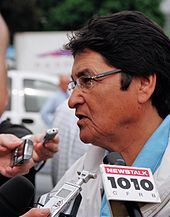 """Ovide Mercredi speaking to the media"""