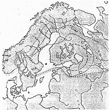 Hand-drawn map of Swedish expansion