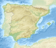 Map showing the location of Cave of Los Aviones
