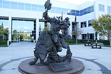 Blizzard Entertainment HQ statue.jpg
