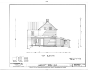 Vandergrift-Biddle House, Junction of US Route 13 and County Road 2, Saint Georges Hundred, Biddles Corner, New Castle County, DE HABS DEL,2-BIDCO,1- (sheet 6 of 8).png