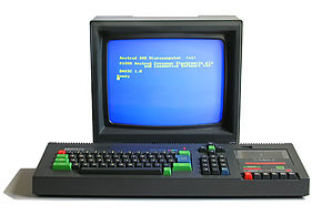 Amstrad CPC 464, with CTM644 colour monitor