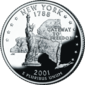 New York quarter dollar coin