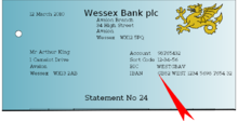 The IBAN on this bank statement is grouped with the account number, sort code and BIC.