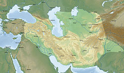 Map of the Timurid Empire at its greatest extent under Timur