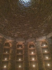 Inside one of the Chambers of the barrow