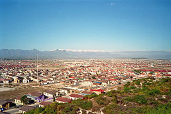 View from Khayelitsha Lookout Hill over Ilitha Park