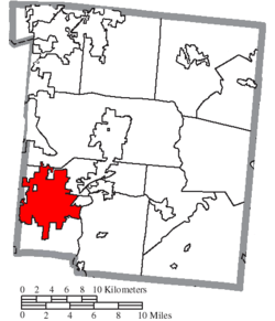 Location of Mason in Warren County